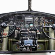 B-17 Cockpit Poster