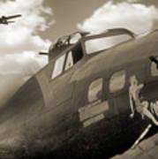 B - 17 Memphis Belle Poster by Mike McGlothlen