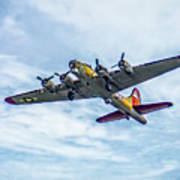 B-17g Flying Fortress In Flight  Poster