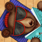 B Is For Brown Bear Poster