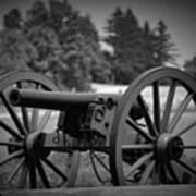 B W Canon Gettysburg Poster