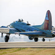 B17 Flying Fortress Cleared For Takeoff At Livermore Poster
