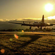 B17 Landing At Livermore Poster