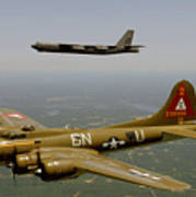 B17g And B52h In Flight Poster