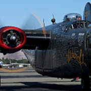 B24 Liberator Ready To Taxi Memorial Day Weekend 2015 Poster