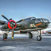 B25 Mitchell At Livermore Poster