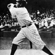 Babe Ruth 1895-1948 At Bat, Ca. 1920s Poster