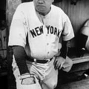 Babe Ruth In The New York Yankees Poster by Everett