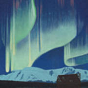 Babine Mountains Aurora Poster