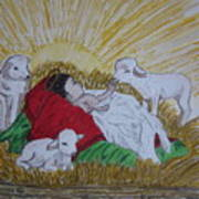 Baby Jesus At Birth Poster