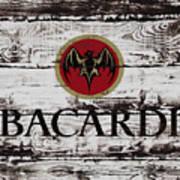 Bacardi Wood Art Poster