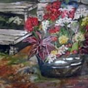 Back Porch Garden Poster