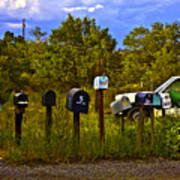Back Road Mailboxes Poster