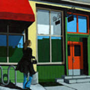 Back Street Grill - Urban Art Poster by Linda Apple