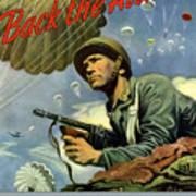 Back The Attack Buy War Bonds Poster