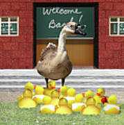 Back To School Little Duckies Poster