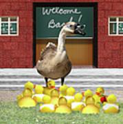 Back To School Little Duckies Poster