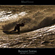 Backlight Surfing - Maui Hawaii Posters Series Poster