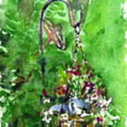 Backyard Hanging Plant Poster