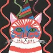 Bad Cattitudes Birthday Poster