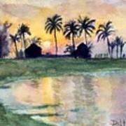 Bahama Palm Trees Poster