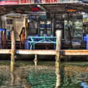 Bait Ice  Beer Shop On Bay Poster by Dan Friend