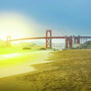 Baker Beach In San Francisco Poster