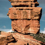 Balanced Rock At Garden Of The Gods Poster