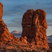 Balanced Rock Sunset Poster