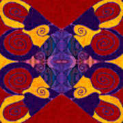 Balancing Affections Abstract Bliss Art By Omashte Poster