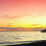 Balboa Beach Pastels Poster