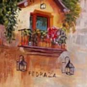Balcony In Bloom Poster