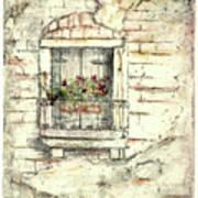 Balcony Venice Poster