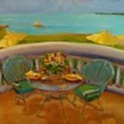 Balcony View On Milton Island Poster