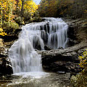 Bald River Falls In Autumn Poster