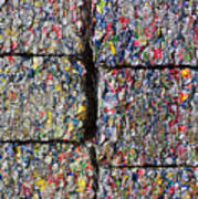 Bales Of Aluminum Cans Poster