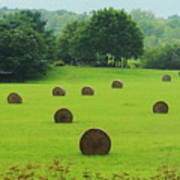 Bales Of Hay Poster