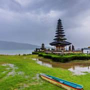 Bali Lake Temple Poster