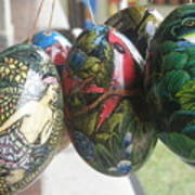 Bali Wooden Eggs Artwork Poster