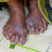 Balinese Lady's Feet Poster
