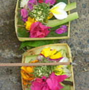 Balinese Offering Baskets Poster