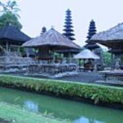 Balinese Temple By The Water Poster