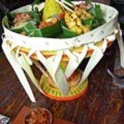 Balinese Traditional Dinner Basket Poster