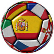 Ball With Flag Of Spain In The Center Poster