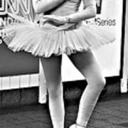 Ballerina B W Poster
