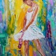 Ballerina Before The Dance Poster