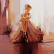 Ballerina Dancer Sitting On The Floor 01 Poster