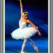 Ballerina On Stage L B With Alt. Decorative Ornate Printed Frame. Poster