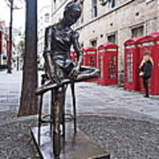 Ballerina Statue And Telephone Boxes Poster