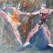 Ballet Dancers Heart Poster